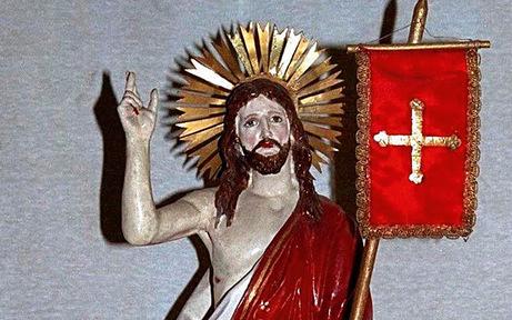 Zu Ostern Jesus-Statue aus Pfarrkirche geklaut
