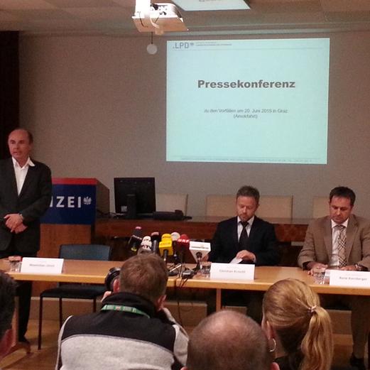 Amokfahrt in Graz - Pressekonferenz