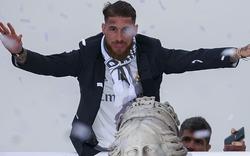 Sergio Ramos fast von Ast erschlagen