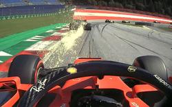 Schock-Video: Vettel beinahe von Reifen getroffen