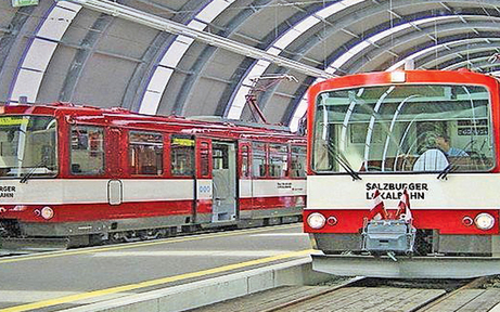 Die U-Bahn in Salzburg ist auf Schiene