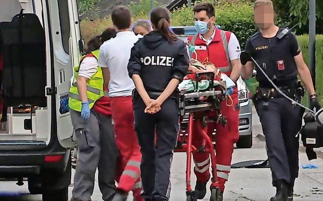 Schüsse in Villenviertel Polizist angeschossen