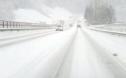 Schneeverwehungen in Niederösterreich