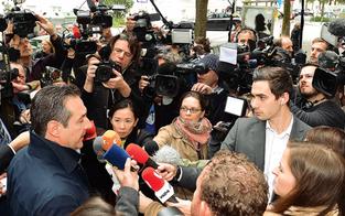 Strache: Eklat bei der Stimm-Abgabe