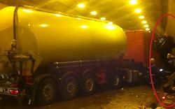 Massen-Unfall in A2-Tunnel