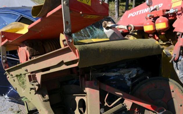 Lamborghini rast frontal in Traktor